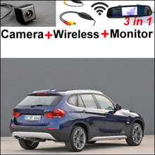 Special WiFi Camera + Wireless Receiver + Mirror Monitor Easy DIY Rear View Back Up Parking Backup System For BMW X1 E84 X3 E83