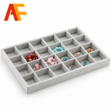 Hot selling Jewelry Display Case All sorts of small adorn article can be placed dish Show Case jewelry show box 24 girds tray