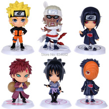 J.G Chen 6pcs/set New Arrival Anime Japanese Cartoon Naruto Cute Action Figure Toy Set Figurines PVC Kids Toys Free Shipping(China)