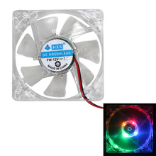 UN2F 2 pcs Colorful LED Cooling Fan 1200 RPM Case Fan 12V 4Pin 80mm 80x25mm For Computer PC CPU Cooling High Quality Best Price
