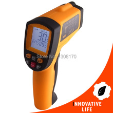 Digital 12:1 DS Infrared IR Laser Thermometer Pyrometer -50~700 Degree Celsius Range 12 Memories Storage Portable Tester