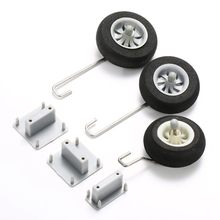 Landing Gear Fixed Base With Steel Wire & Wheel For 50mm Ducted RC Airplane(China)