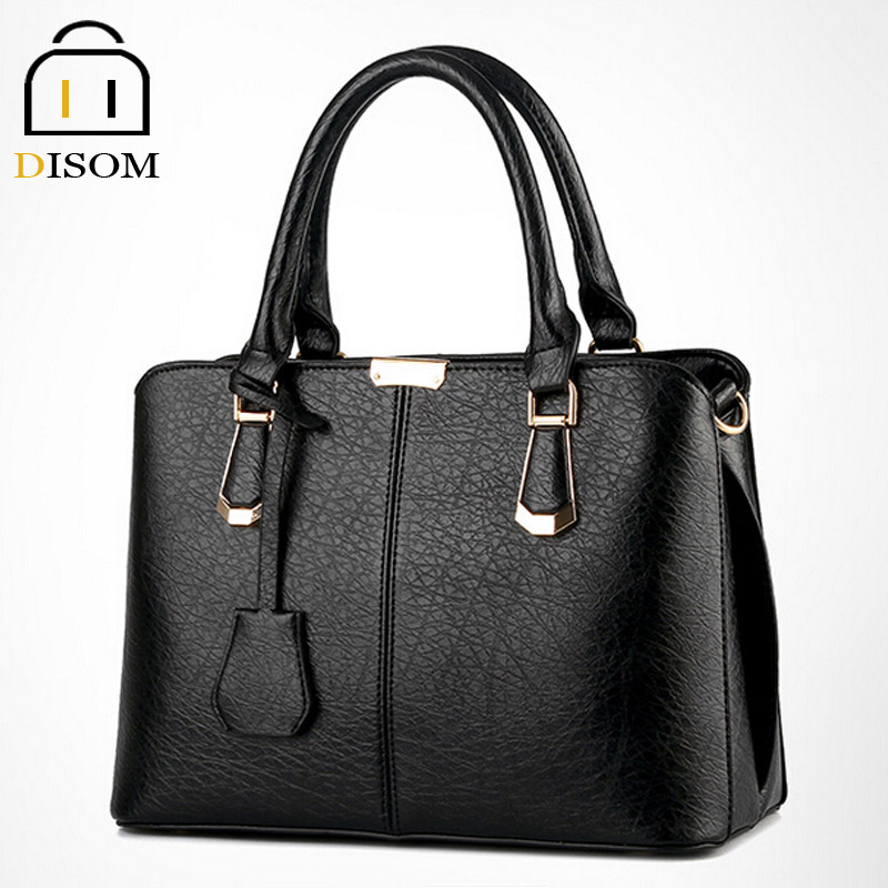 Disom New 2016 Famous Luxury Brand pu Leather women Handbags hot sale fashion solid 6 Colors designer women leather bags<br><br>Aliexpress