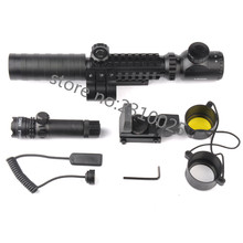 3-9X32EG Riflescope with Long Range Red Dot Laser and Red/Green Dot Holographic Reflex Sight Combo for Rifle and Airsoft