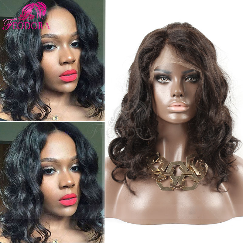 Virgin Glueless Full Lace Human Hair Wigs For Black Women Peruvian Remy Lace Front Wig Body Wave 7A Unprocessed Natural Lace Wig<br><br>Aliexpress