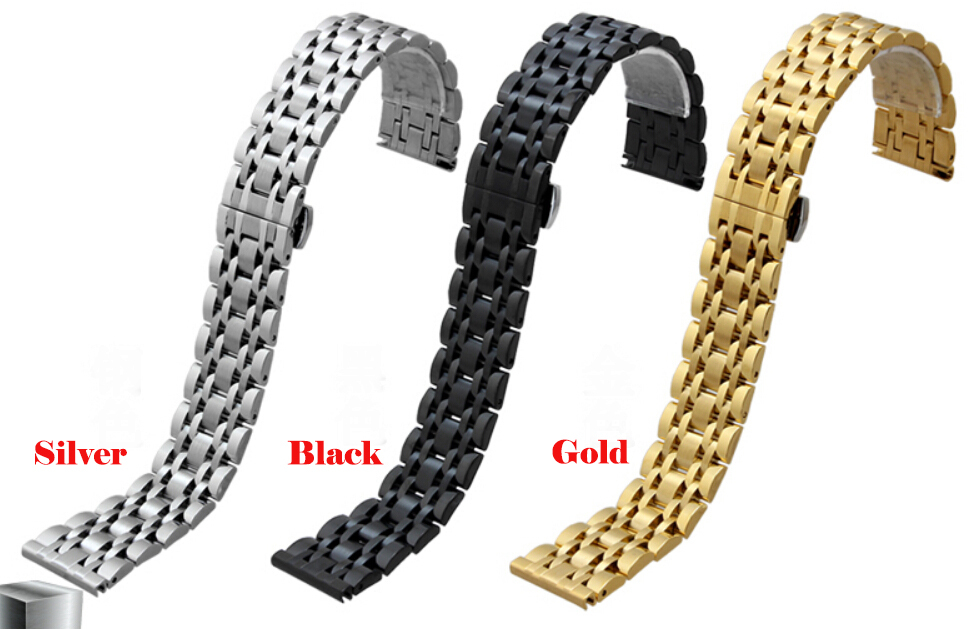 20mm 22mm New Top Grade Brushed Stainless Steel Watchband BANDS Strap With Double Push Clasp Buckle For AR0389 AR0168<br><br>Aliexpress