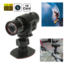 F9 FULL HD 1080P Small Sport Action Helmet Camera DV DVR Sport CAM CMOS extreme sport Camcorder aluminum(China)