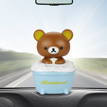 Cute Bathing Bear Doll Nodding Head Automobile Car Dashboard Decoration Ornaments Toys Solar Powered Auto Home Decor Accessories(China)