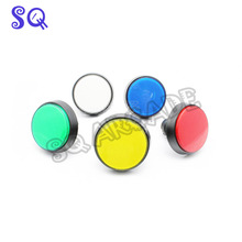50pcs 60mm Bevel Edge Illuminated Round Push Button buttons with microswitch arcade accessories for Arcade Game cabinet Machine(China)