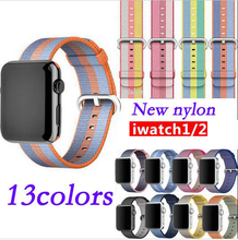 38mm 42mm band for apple watch series 1 2 woven nylon band strap for iWatch colorful pattern classic buckle
