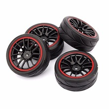 4pcs 12mm Hub Wheel Rims & Rubber Tires for RC 1/10 on-road Touring Drift Car R(China)