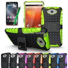 Armor Heavy Duty Hard Cover Case Silicone Protective Skin+Stylus+Films For Motorola Droid Turbo/Moto Maxx XT1254 XT1225