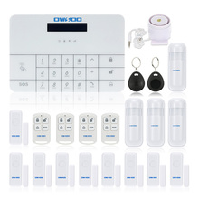 LCD Screen 433Mhz Wireless GSM Alarm System GSM SMS House Security Burglar Intruder System Auto Dialer SMS Alarm System