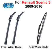 Oge Front And Rear Wiper Blades For For Renault Scenic 3 2009-2016 Windscreen Windshield Wipers Rubber Car Accessories