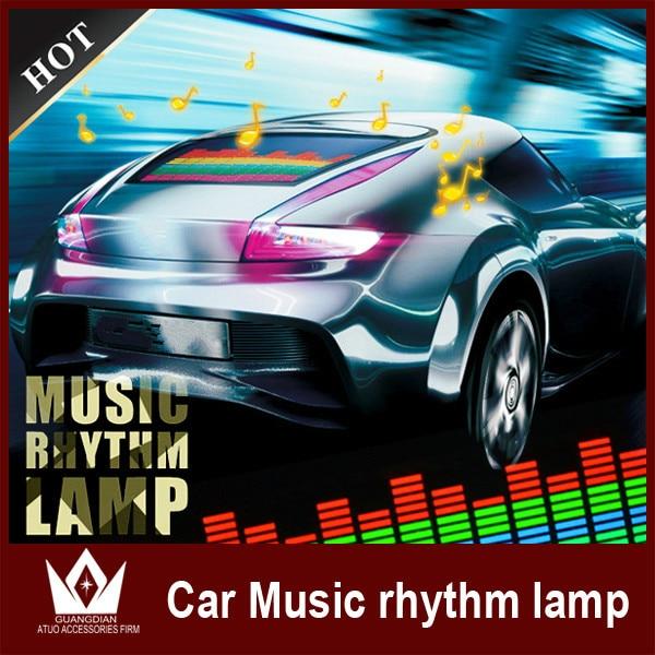 Guang Dian Car Indicator Voice Sound LED sensor light Multi Color Music LED car decortaion With cigarettes control 90cm x 10cm<br><br>Aliexpress