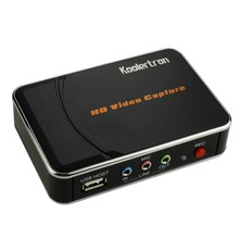 USB Video Capture Full HD 1080p Game Capture Device Recorder Box by HDMI or YPBPR Capture Supports for Xbox 360, PS3