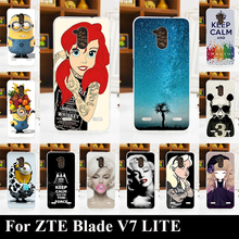 For ZTE Blade V7 LITE Soft Silicone tpu Plastic Mobile Phone Cover Case DIY Color Paitn Cellphone Bag Shell For ZTE Blade V7LITE