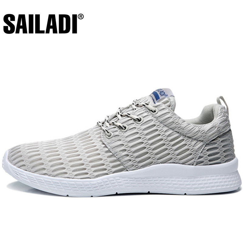 Sailadi Mens Sport Running Shoes gray blue Black Breathable Mesh Sport Shoes Outdoor Training Jogging Shoes Sneakers S001<br>