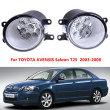 For TTOYOTA AVENSIS Saloon T25  2003-2008  Car styling front bumper LED fog Lights high brightness fog lamps 1set