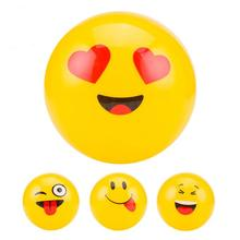 Sports Entertainment Cheerleading Craft Souvenirs Promotional Gift Toy Fod Kids 9'' PVC Inflatable Emoji Beach Ball 6pcs/lot(China)
