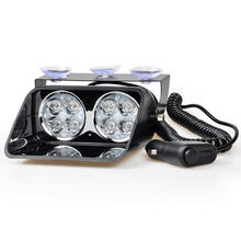 12v 24w Car truck Motorcycle driving warning light 8 Led strobe flasher Fog lamp hazard signal Police Firemen Emergency lights(China)