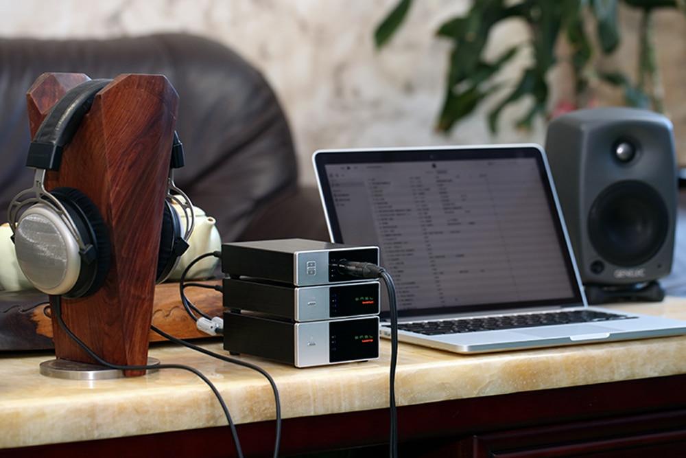 SMSL Sanskrit Pha HIFI Audio Portable Headphone Amplifier RCA Input 6.35 mm Jack For Headphones Stereo On Cinch Output Silver