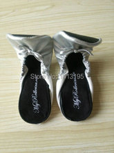 New Arrival Wholesale lady  foldable ballet  flat your logo shoes,portable shoes free shipping