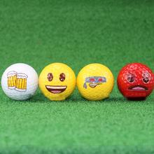 Golf Ball Emotional Facial Pattern Small Happy Practice Sports Tool Equipment Golf Accessories