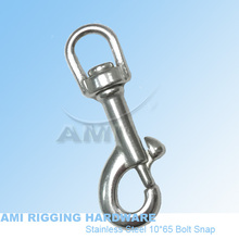 10*65 Swivel Bolt Snap, stainless steel 316, AISI 316, marine hardware, boat hardware, rigging hardware, yacht hardware, OEM(China)