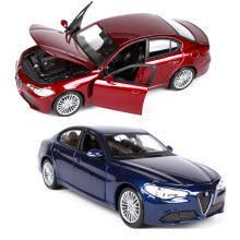 Children's cars 1:24 Alfa Romeo Giulio diecast car models brinquedos Kids Toys gift for children boys