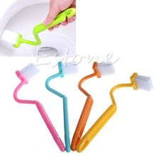 1Pc NEW S-type Toilet Sanitary Set Curved Bent Handle Cleaning Scrubber Brush Free shipping-Y102