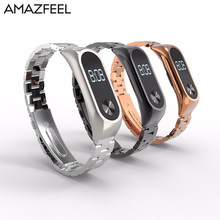 Buy AMAZFEEL Mi band 2 Wrist Bracelet Screwless Pulseira Xiaomi Mi Band 2 Pulseira Metal Stainless Steel Miband 2 Wrist Strap for $6.90 in AliExpress store