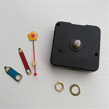 1PC 5168S No Tic Sweep Clock Movement Mechanism with Flower Pencil Hands for DIY Kids Clock