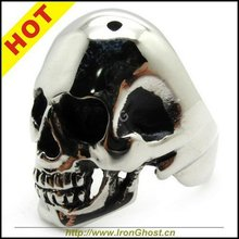 USA Style Size 8-13, 316L Stainless Steel Cute Men Boys Silver Skull Ring - ironsoul Store store