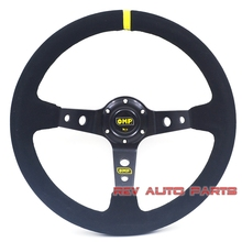 350mm Deep Dish Suede Leather OMP Racing Steering Wheel(China)