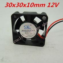 10pcs/lot  30x30x10mm  3010 mini fan  12 Volt  Brushless DC Fans cooler  radiator  cooling