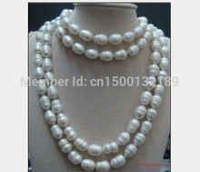 xd j00422 huge 12-14mm Australian AAA south sea white baroque pearl necklace 48 inch 14KGP