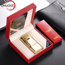 ONUOSS Electronic Cigarette Torch Lighter Tiger Logo Single Pulsed Arc Lighter Windproof Thunder Metal Plasma USB Lighter 900(China)