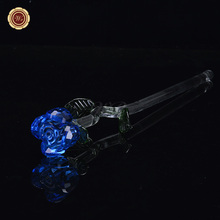 WR Blue Crystal Rose New Year Decoration Valentines Rose Flower Best Gift The New Year Artificial Flowers Home Decorative