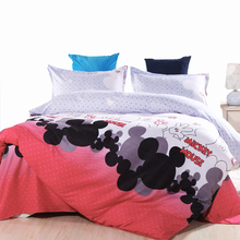 USA Europe Russian Kids Bedding Set Mickey Mouse Single Size Duvet Cover Set Queen King Quilt Cover Bed Set Bedclothes 2017 New(China)