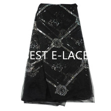 African Lace Fabric 2017 Embroidered Nigerian Bridal Laces FabricHigh Quality French Net Tulle Beads Lace Fabric 1703b0120d28