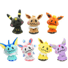 Pikachu 7pcs 12 Inches 300g Mimikyu Cosplay Sylveon Vaporeon Flareon Eevee Soft Plush Doll Toy