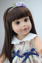 "18"" High Quality Lovely Journey Girl 45cm American Girl Doll Lifelike Baby Toy for Children Princess Bobbi Dress Girl Toy Doll"