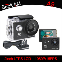 GEEKAM A9 Action Camera 1080P 120D Full HD 2'' Waterproof Outdoor Mini Cam 1920*1080 go Sport Video pro Camera