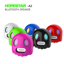 HOPESTAR A2 Devil Ghost Design Bluetooth Wireless Mini Speaker Handsfree With Mic PC Phone MP3 MP4 Player Bass Stereo(China)
