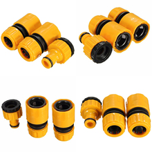 "3Pcs Fast Coupling Adapter Drip Tape For Irrigation Hose Connector With 1/2"" 3/4""barbed Connector Garden Irrigation Garden Tools(China)"