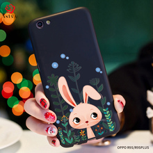 ASINA Cute Cartoon Case For OPPO R9S Ultra Thin Silicone Full Cover Case With Free Strap For OPPO R9S Plus Coque With 3D Relief(China)