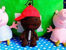 2piece/A lot 15cm Little Big Planet LBP 2 Sackboy Plush Doll With Red Cap Toy Cuddly Brown Funny Figure for collection(China)