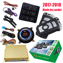 cardot keyless car alarm with identification recognized functions push button start stop engine smart key switching