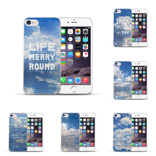Most popular Full edge Hard PC For Apple iPhone 5 5S 5SE White clouds Phone accessories Back cover Phone case For iPhone 5 5s se
